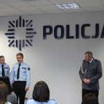 Pasowanie, spotkanie w Komendzie Powiatowej Policji